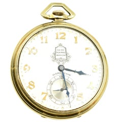 Hamilton Packard Motor Car Co. Pocket Watch Mechanical Wind