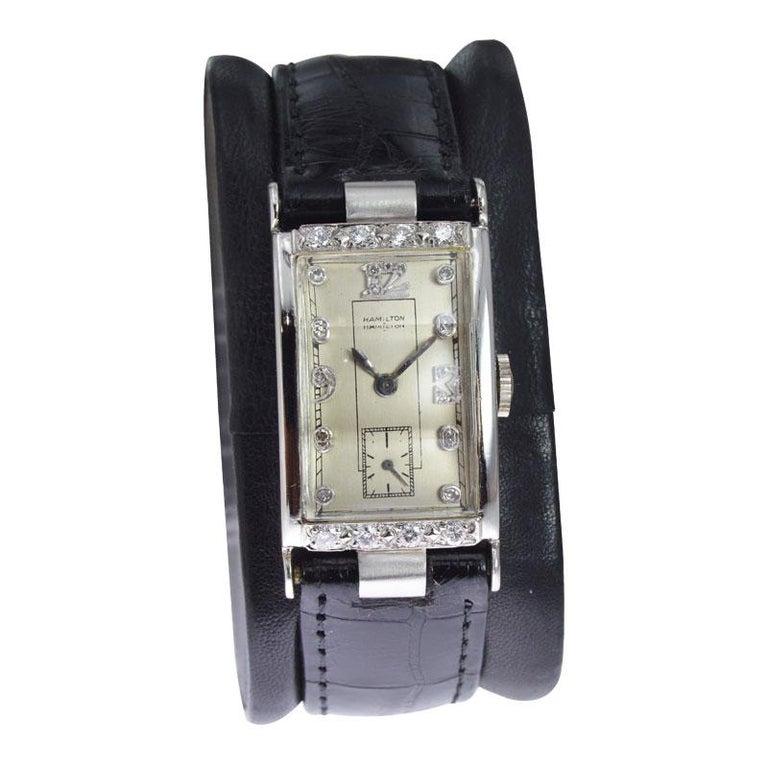 Hamilton Platinum Diamond Bezel Watch 1
