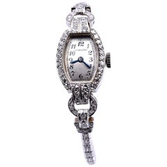 Hamilton Platinum Diamond Vintage Ladies Watch