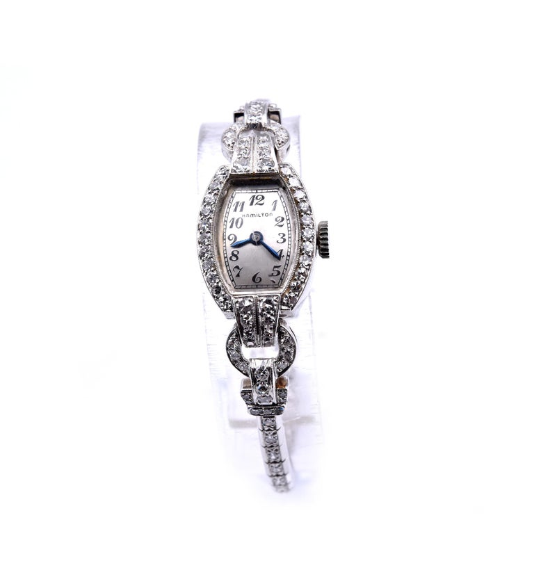 Hamilton Platinum Diamond Vintage Ladies Watch
