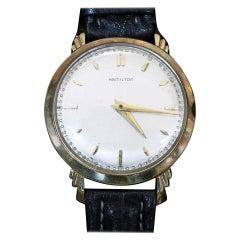 "Hamilton ""Sedgman"" 14-Karat Gold Wristwatch"
