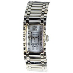 Hamilton Solid 14 Karat White Gold Art Deco Bracelet Watch, circa 1940s