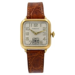 Hamilton Vintage 14 Karat Yellow Gold Winder Unisex Watch