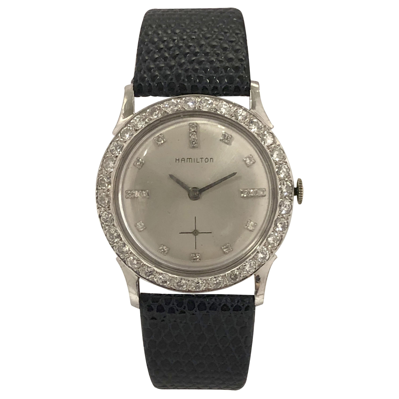 Hamilton Vintage White Gold and Diamond Gents Tuxedo Mechanical Wristwatch
