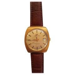 Hamilton Watch 1960s 14 Karat Gold Filled Self Winding Swiss Leather Band