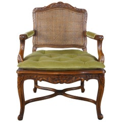 Hammary Maisonette French Louis XV Fauteuil Cane Club Arm Chair Provincial