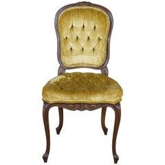 Hammary Maisonette Louis XV Caprice Side Chair Tufted Velvet Vanity Provincial