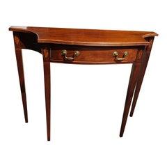 Hammary Solid Mahogany Inlaid Console Table