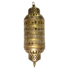 Hammered and Pierced Middle Eastern Lantern