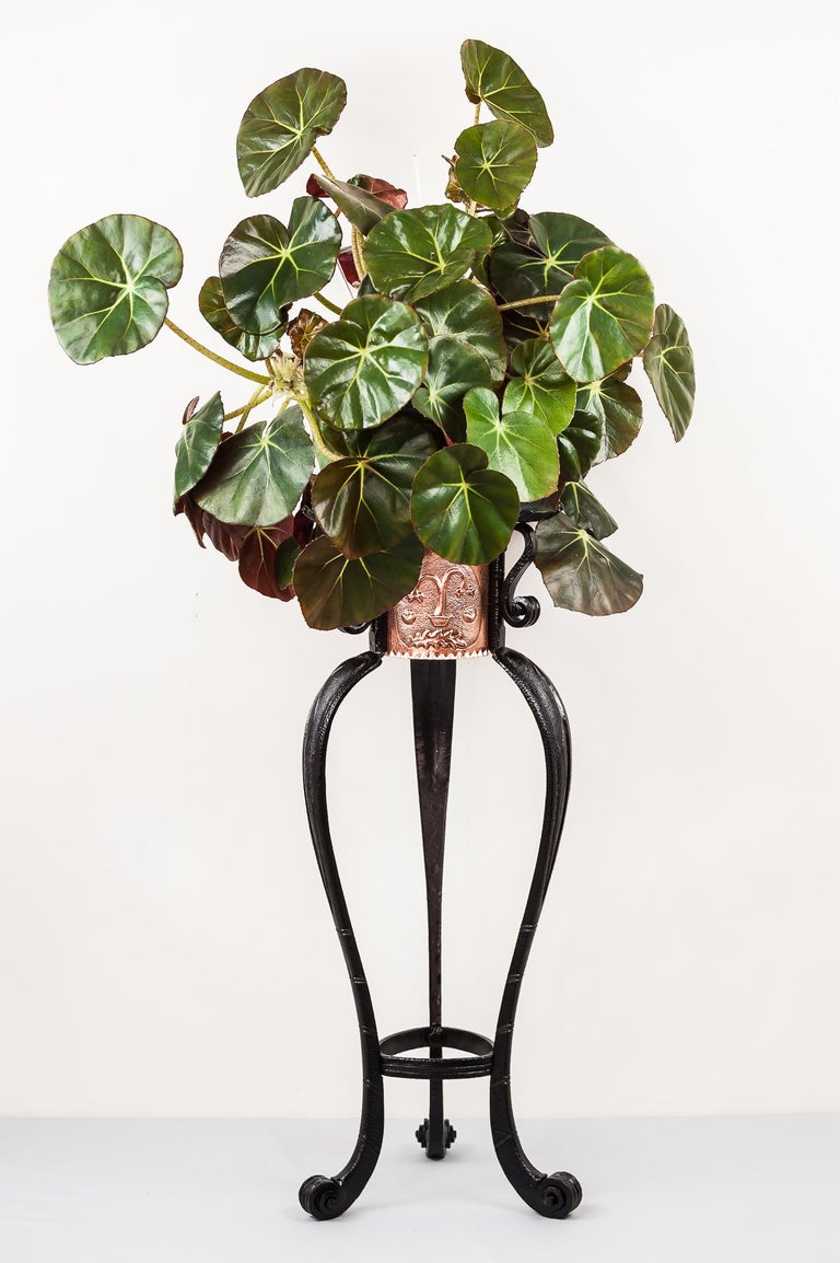 A beautiful example of a hammered Art Deco flower table stand, circa 1920s