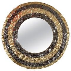"Hammered Brass ""bullseye"" Mirror"