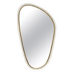 Hammered Brass Mirror by Josef Frank, circa 1950s