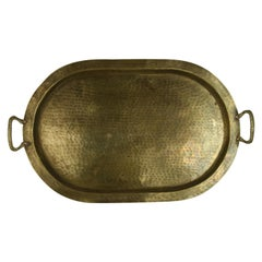 Hammered Brass Serving Tray