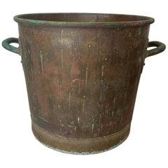 Hammered Copper Cauldron or Garden Planter or Coal or Log Pot