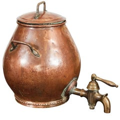 Hammered Copper Dutch Samovar