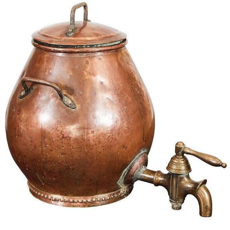 Hammered Copper Dutch Samovar