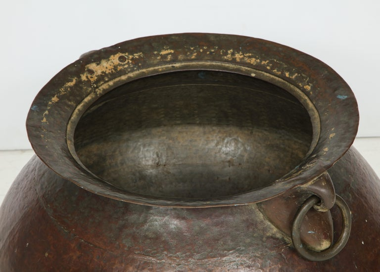 Hammered Copper and Moorish, 19th Century Bronze Basin For Sale 2