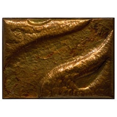 Hammered Copper Wall Relief by W.R.E. 1969