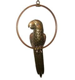 Hammered Metal Bird Sculpture