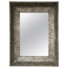 Hammered Metal Industrial Wall Mirror