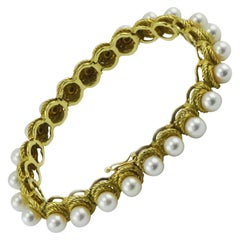 Hammerman Bros. 18 Karat Gold and 24 Pearl Bracelet, New York