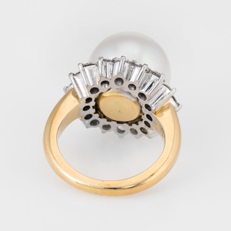 Hammerman Bros South Sea Pearl Diamond Ring  1