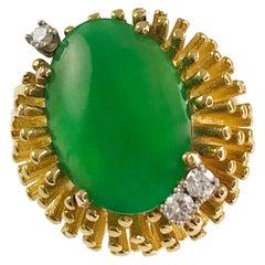 Hammerman Brother's 18 Karat Jade Diamond Ring