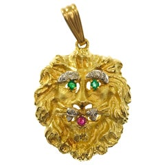 Hammerman Brothers 18 Karat Lion Pendant
