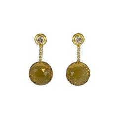 Hammerman Brothers Citrine and Diamond Earrings