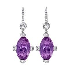 Hammerman Brothers Diamond and Amethyst Earrings