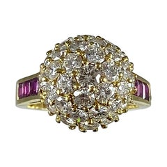 Hammerman Brothers Diamond and Ruby Dome Ring