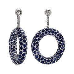Hammerman Brothers Diamond and Sapphire Donut Earrings