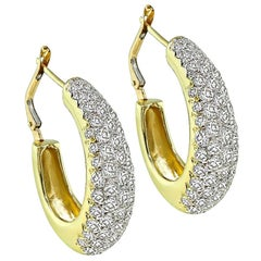 Hammerman Brothers Diamond Gold Earrings