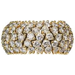Hammerman Brothers Diamond Gold Flexible Band Ring