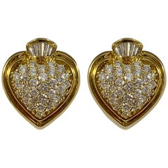 Hammerman Brothers Diamond Sacred Heart Earrings
