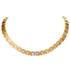 Hammerman Brothers Diamond X Gold Choker Necklace