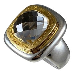 Hammerman Brothers Do Unto Others Square Crystal Matnra Ring