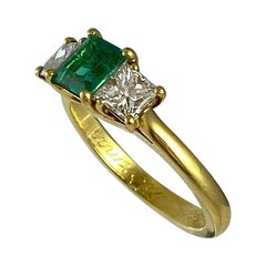 Hammerman Brothers Emerald and Diamond Ring