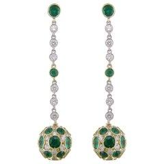 Hammerman Brothers Emerald Drop Earrings