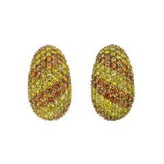 Hammerman Brothers Pavé Yellow and Brown Diamond Earrings
