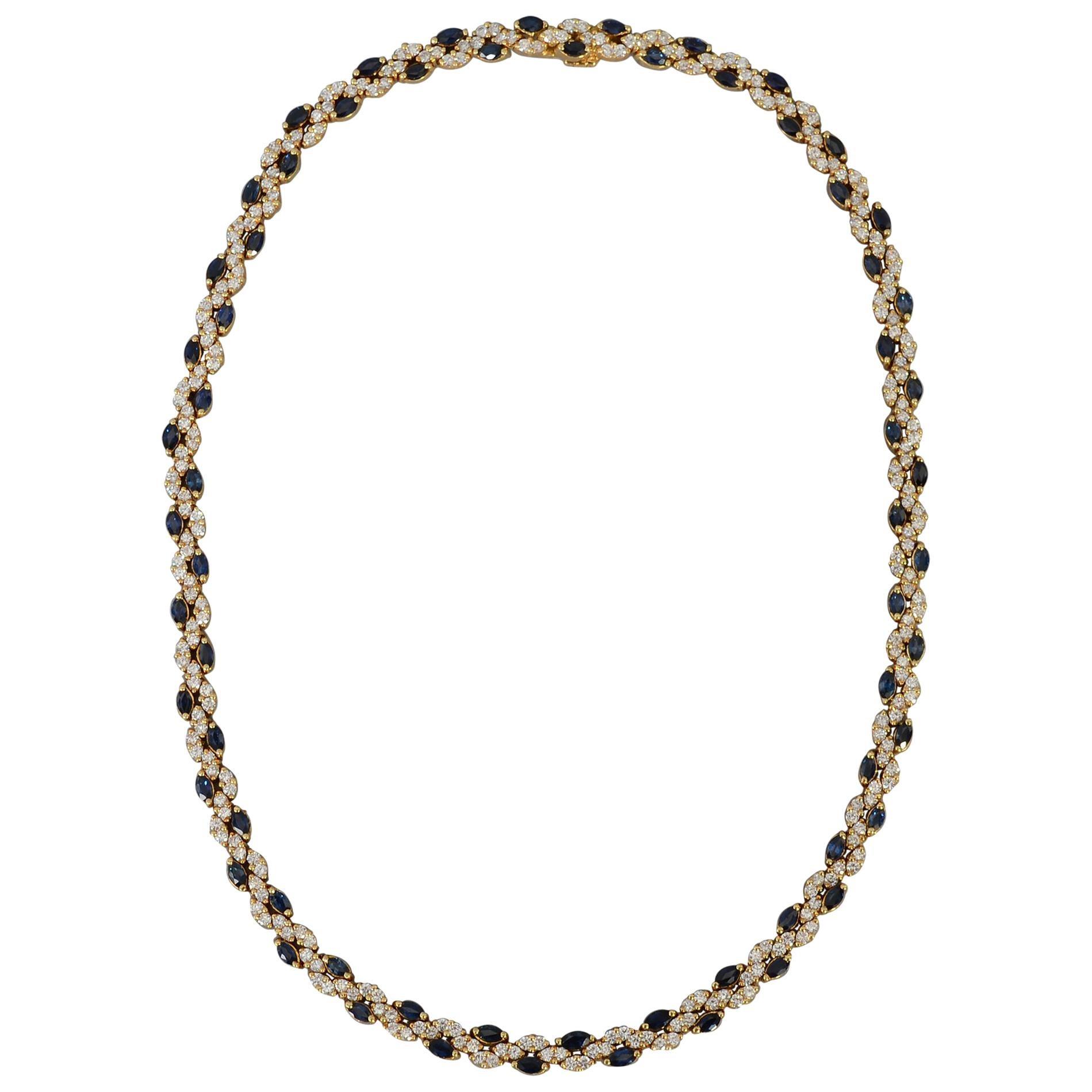 Hammerman Brothers Sapphire and Diamond Choker Necklace