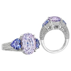Hammerman Brothers Tanzanite Three-Stone Ring