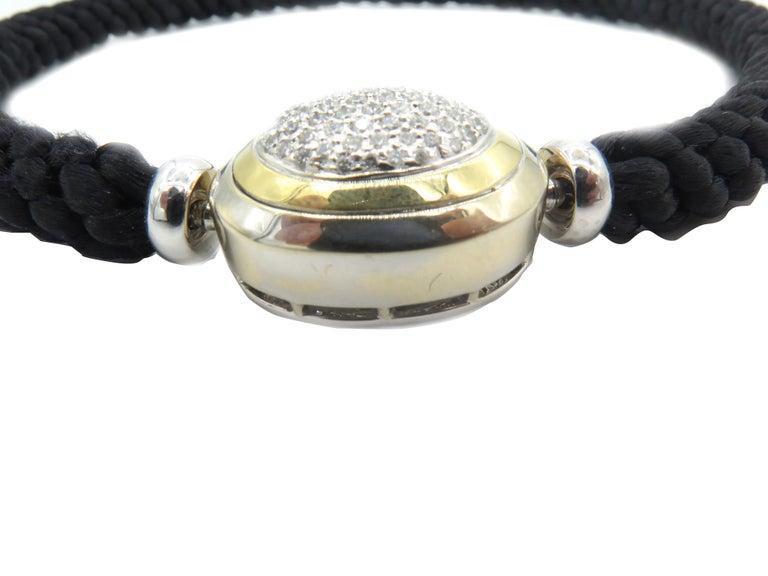 Round Cut Hammerman Fine Diamond Luxurious Cord Choker Necklace For Sale
