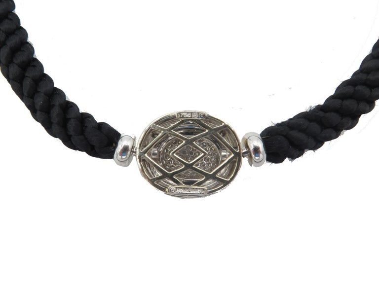 Hammerman Fine Diamond Luxurious Cord Choker Necklace In Excellent Condition For Sale In Brownsville, PA