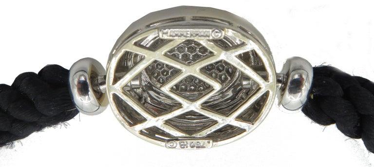 Women's Hammerman Fine Diamond Luxurious Cord Choker Necklace For Sale