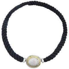 Hammerman Fine Diamond Luxurious Cord Choker Necklace