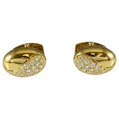 Hammerman Brothers Royal Ascot Diamond Oval Cufflinks