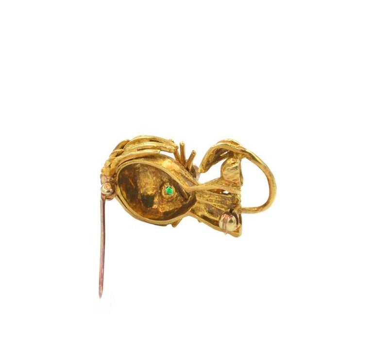 Hammerman Lion Brooch In Excellent Condition For Sale In Los Angeles, CA