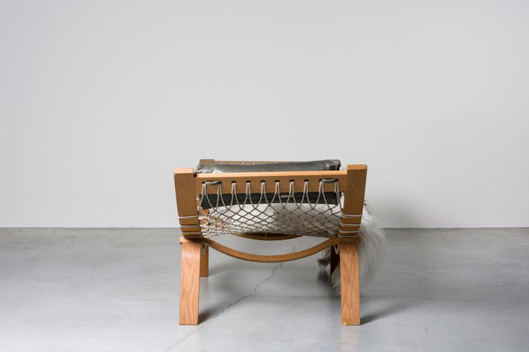 Danish Hammock Chaise Longue by Hans Wegner For Sale