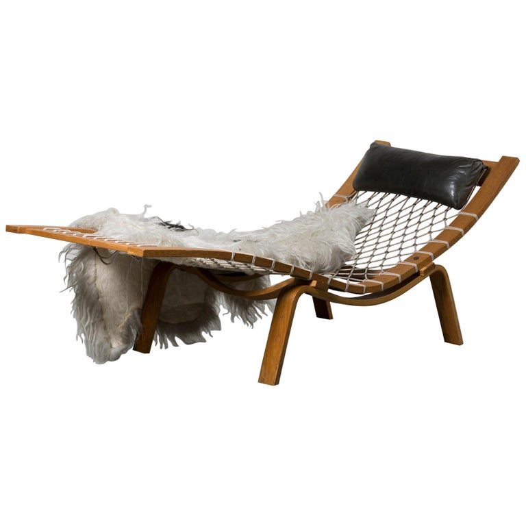 Hammock Chaise Longue by Hans Wegner For Sale